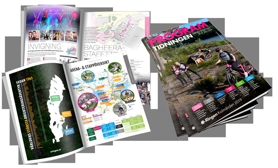 96 sidor programtidning till O-Ringen Kolmården 2019.